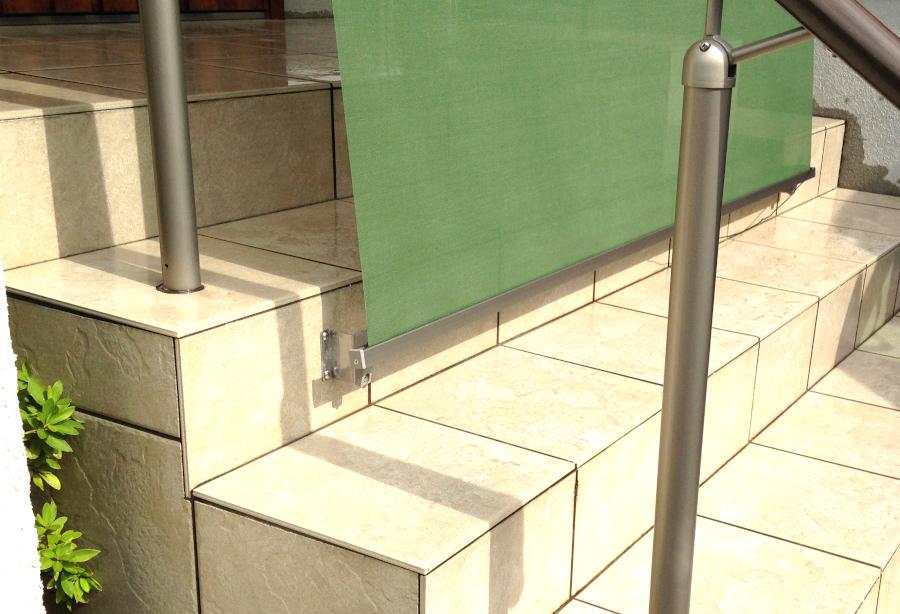 日よけ シェード フック固定 取付工事 大阪 西日対策 玄関