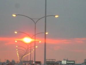 沈み行く太陽