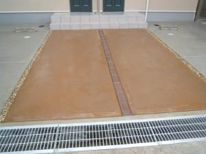 アプローチ ラインレンガ カラークリート