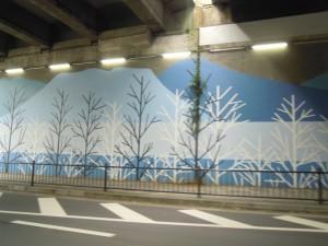 擁壁の継目の木