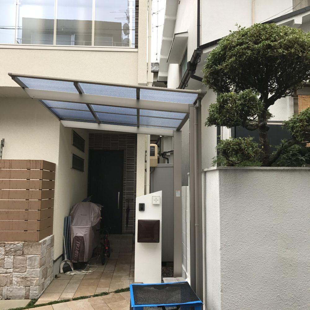ネスカF サイクルポート 屋根 駐輪場 自転車置き場 大阪 外構工事