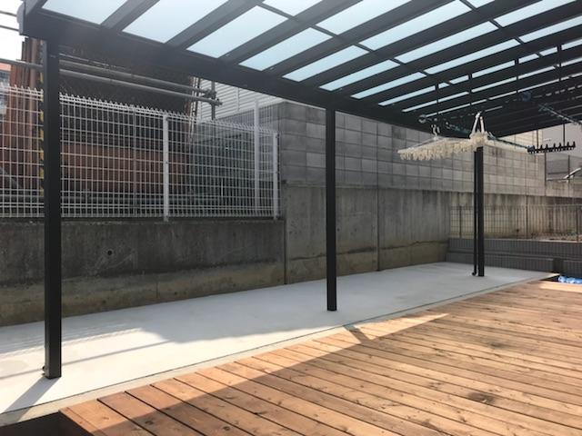 ウッドデッキ テラス テラス屋根 大阪 外構工事 エクステリア