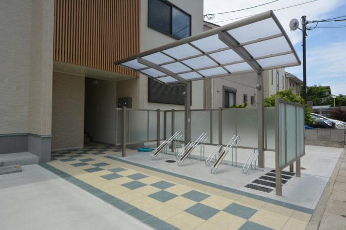 賃貸住宅 外構工事 大阪 駐輪場