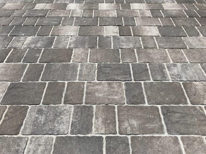 石畳風コンクリート 庭 外構工事 大阪