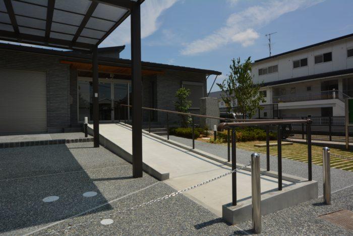 集会所 公共施設 エクステリア 外構工事 スロープ