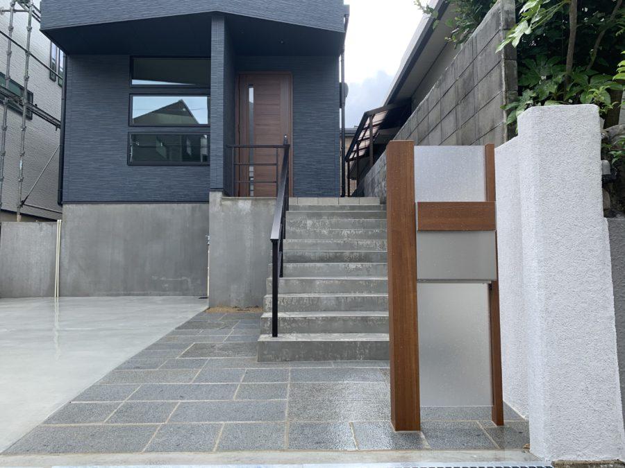 外構 エクステリア 大阪 機能門柱 YKK ルシアスポストユニット