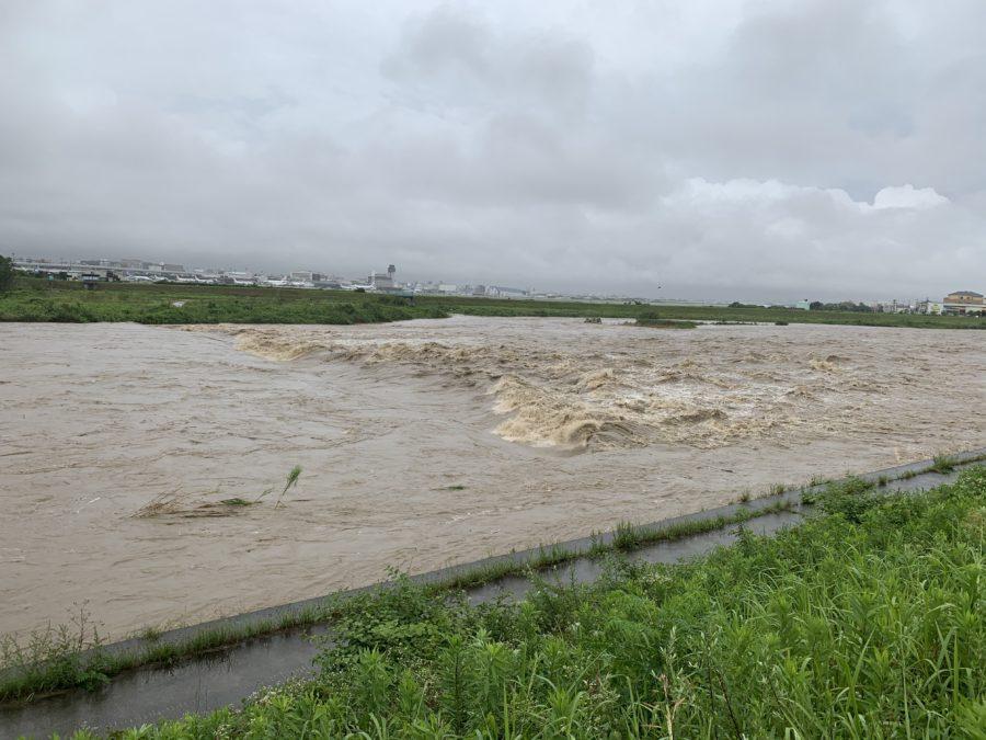 猪名川 豪雨