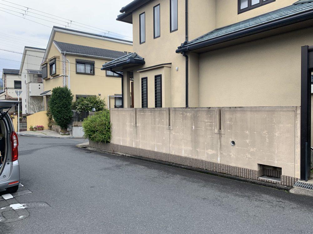 外構 リフォーム 塀の撤去 大阪