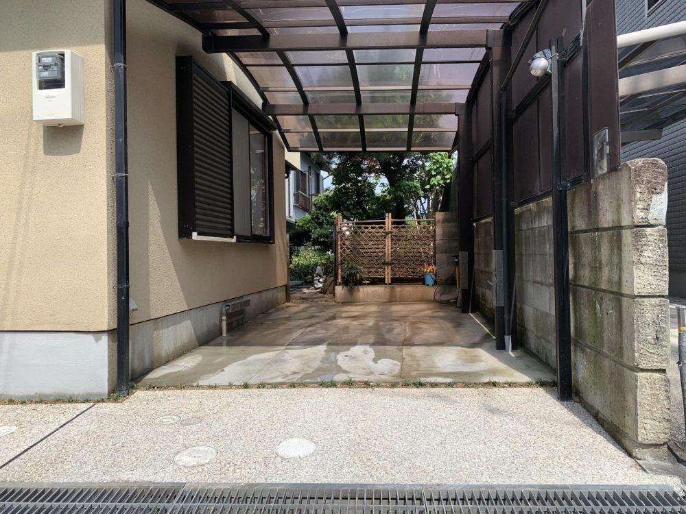 外構 リフォーム シャッターゲートの撤去 大阪