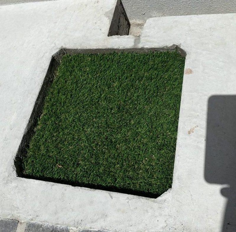 排水溝に蓋