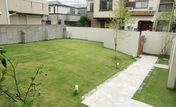 ガーデン 庭 リフォーム バリ風 大阪 外構工事 エクステリア