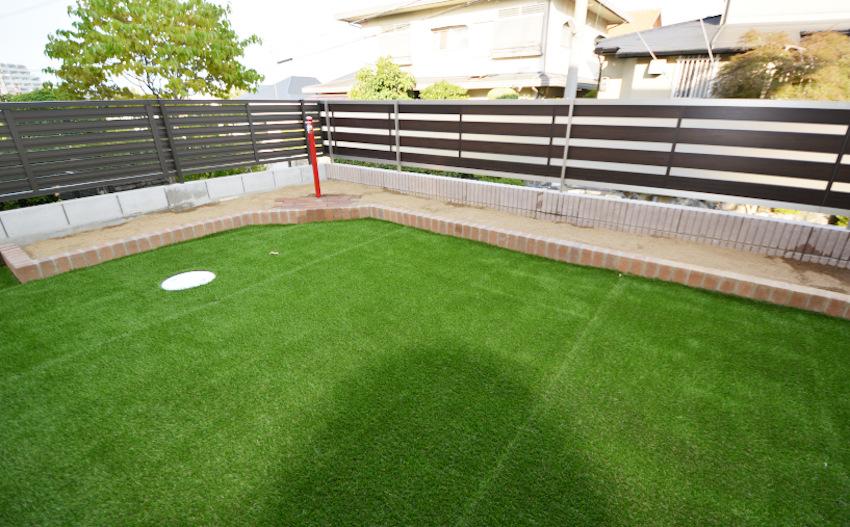 人工芝 メモリーターフ サッカー練習場 庭のリフォーム 大阪