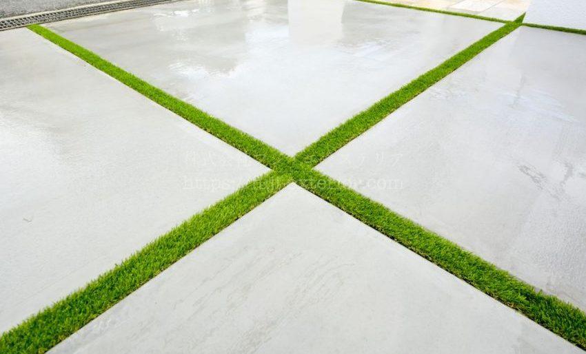 通常行う草目地には、人工芝のアイターフを使用しました。