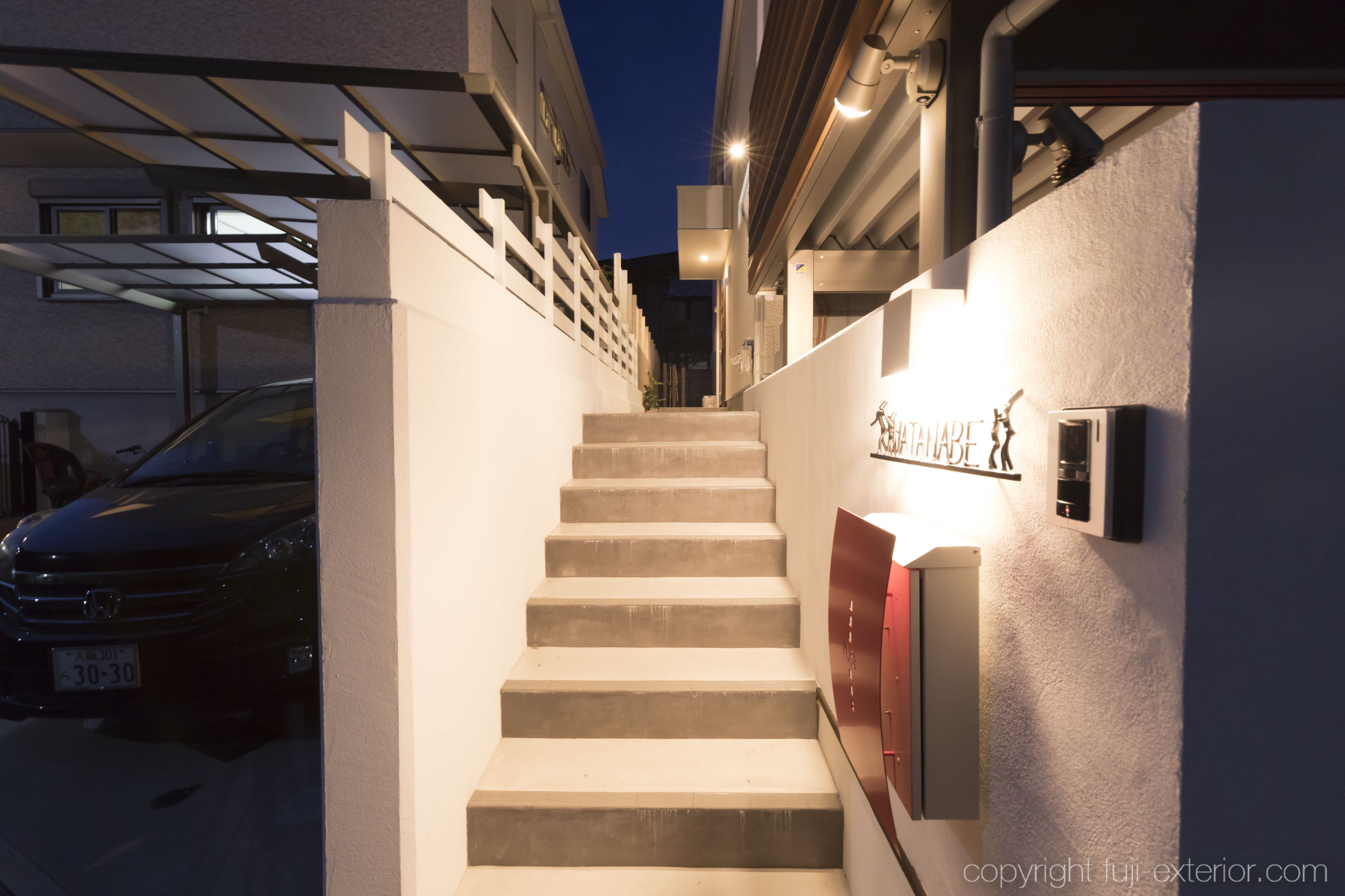 アプローチ 階段 玄関灯 ライト 照明