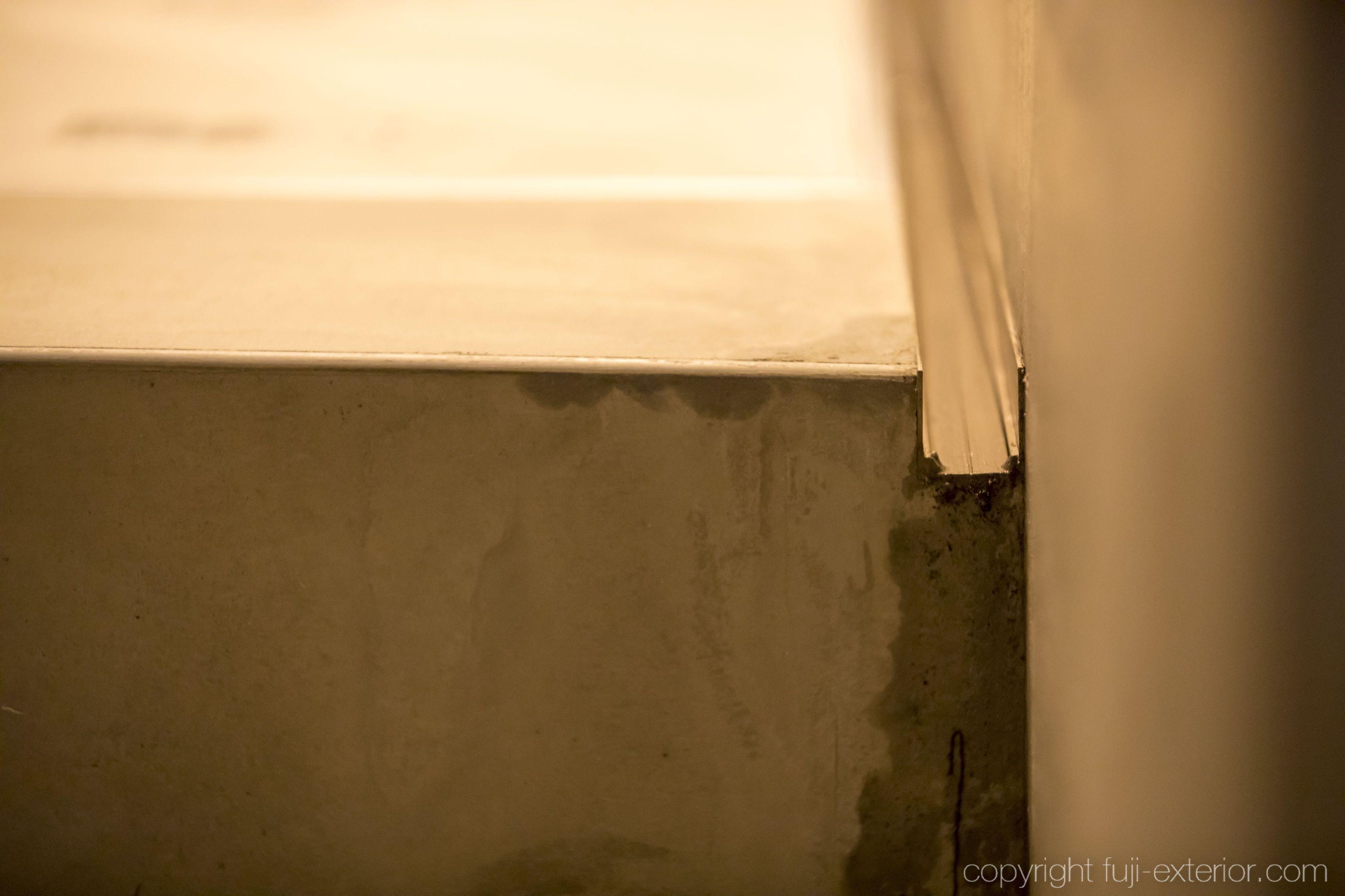 アルミアングル 雨水対策