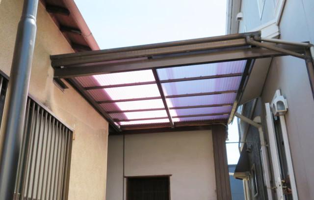 テラスの屋根も張り替え