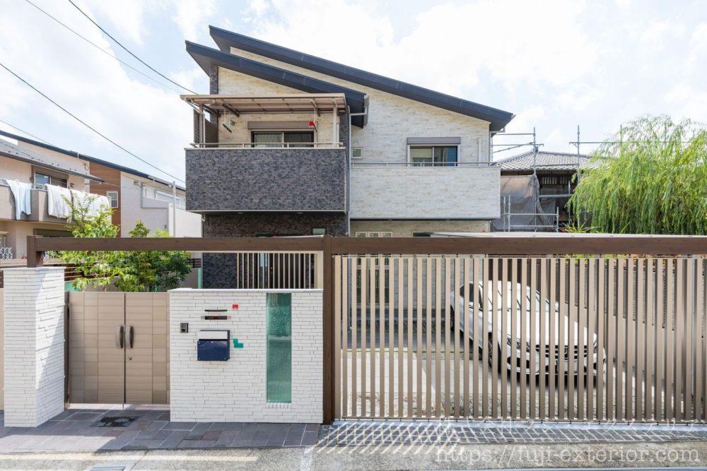 リフォーム クローズ外構 リノベーション ライアーレ スライディングゲート 大阪