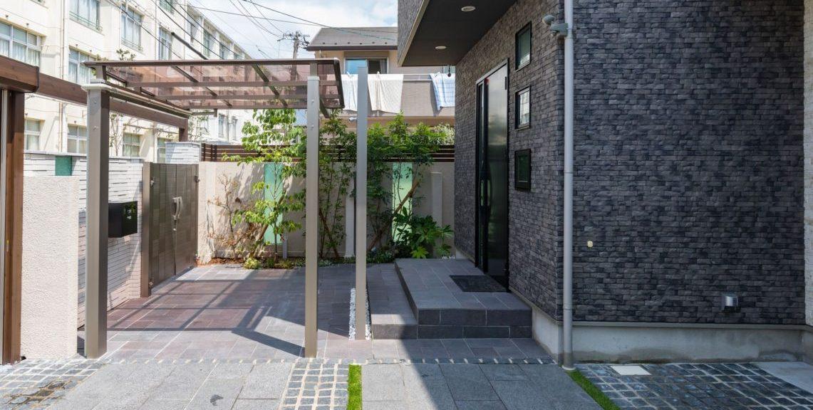 アプローチ・サイクルポート 自転車置き場の屋根 駐輪場 ガレージ 大阪 フジエクステリア