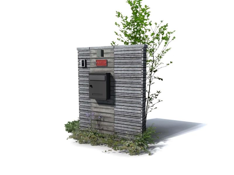 天然木のような化粧ブロック ユニソン ゴードンウォール