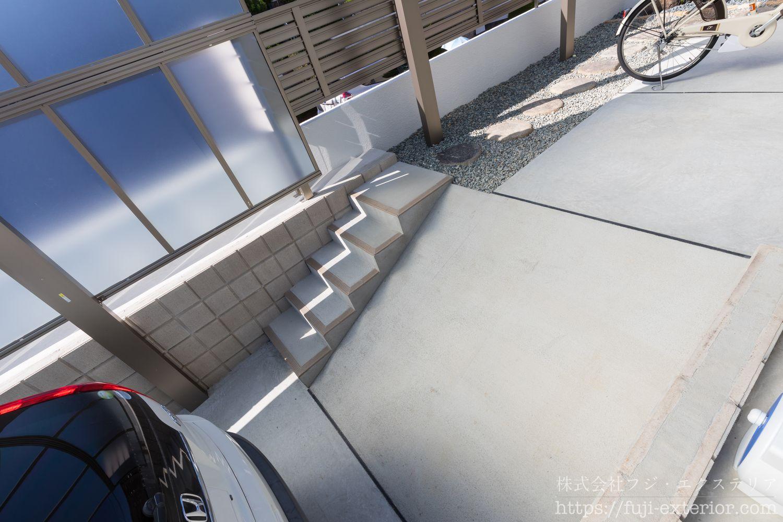 駐輪場へのスロープ