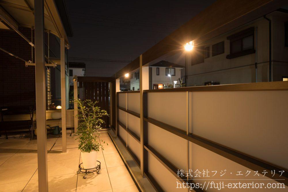 プラスG LEDライト Cポイント 庭のリフォーム タイルテラス