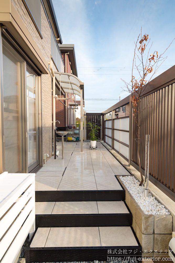 LIXIL タイルデッキ プラスG 庭のリフォーム 大阪 エクステリア