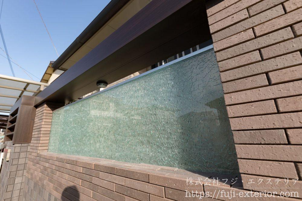 門柱 ガラス ティンクルⅡクラッシュガラス
