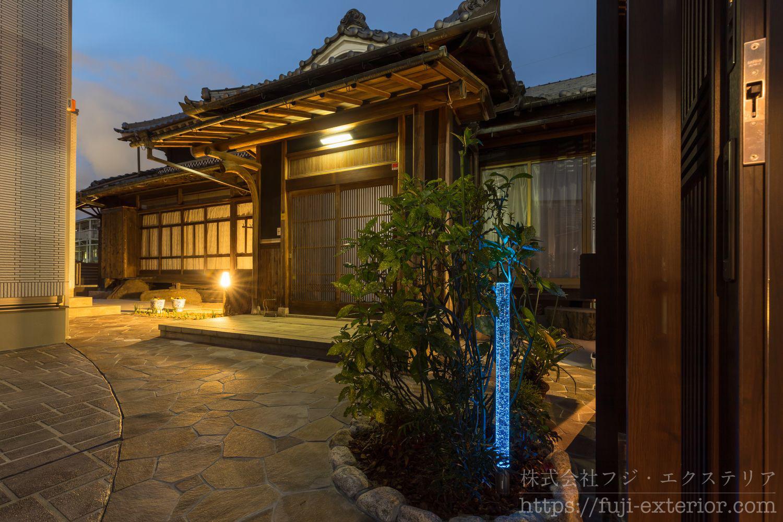 ライティング 玄関照明 エクアライブ 一条の光 ガラスライト 庭 照明 エクステリア フジエクステリア