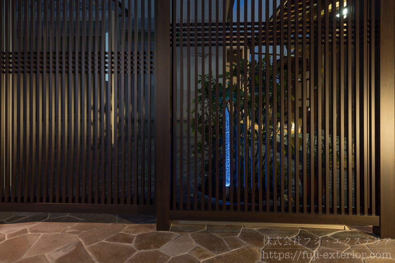 ライティング EXALIVE エクアライブ ガラスライト 一条の光 ブルー 玄関照明