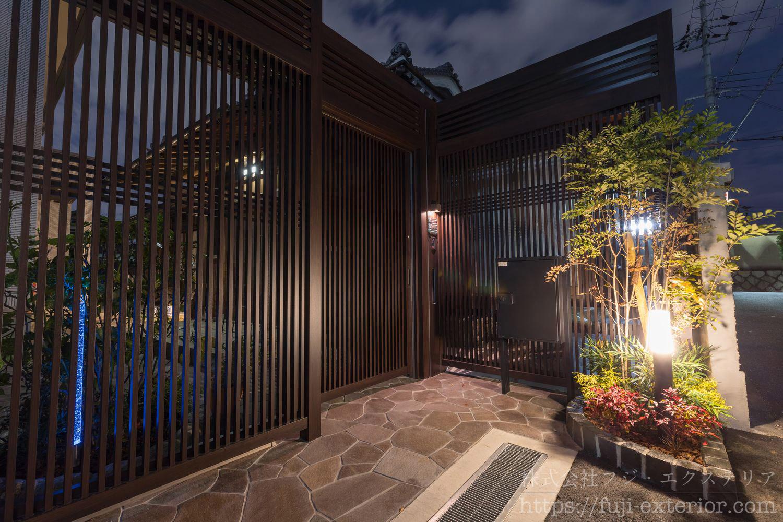 ライティング 和モダン 引戸 リフォーム 日本建築 外構 フジエクステリア