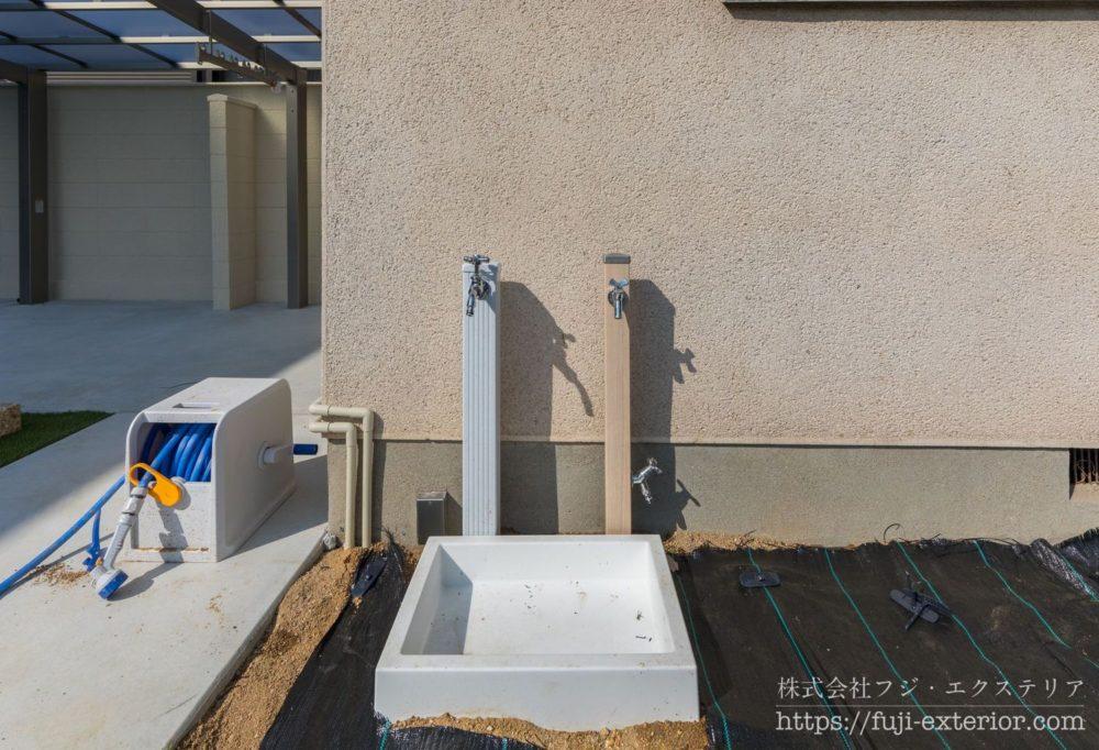 立水栓 パステルカラー 庭 大阪 フジエクステリア