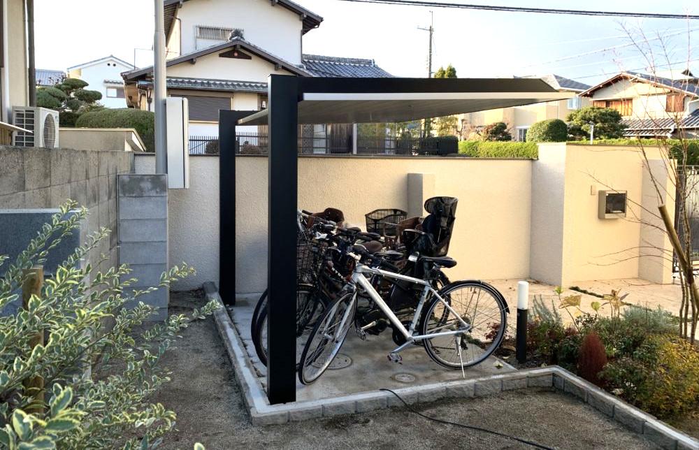オシャレなサイクルポート LIXIL カーポートSC ミニ 大阪 自転車置き場