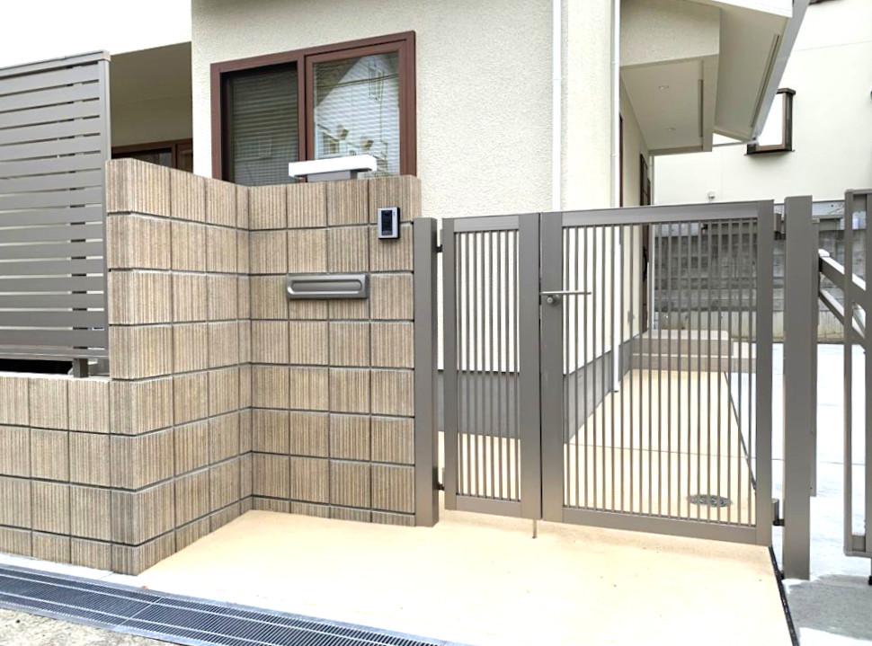 クローズ 外構 大阪 フジエクステリア LIXIL プレスタ門扉 門廻り