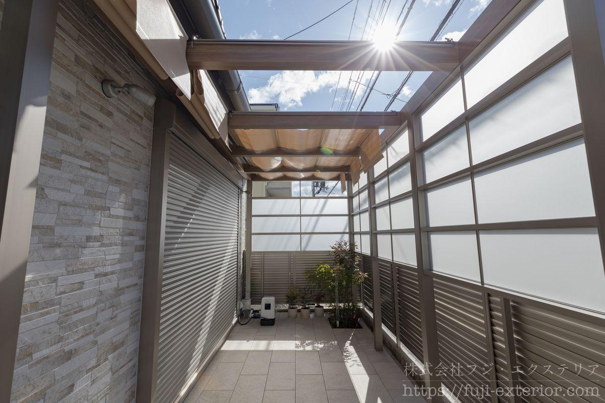 キャノピー プラスG・目隠しフェンス テラス屋根 囲い アウトドアリビング