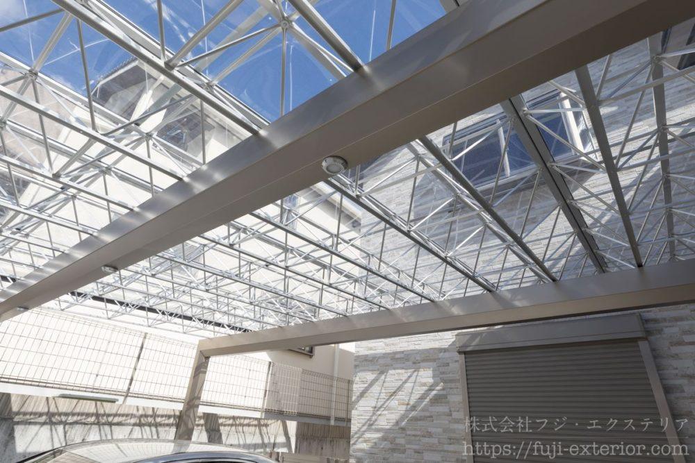 外構 大阪 カーポート Mシェード 三協アルミ 2台用 おすすめ
