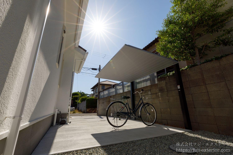 サイクルポート SCミニ おしゃれ エクステリア 三井ホーム 新築外構 大阪 外構工事 エクステリア 自転車置き場