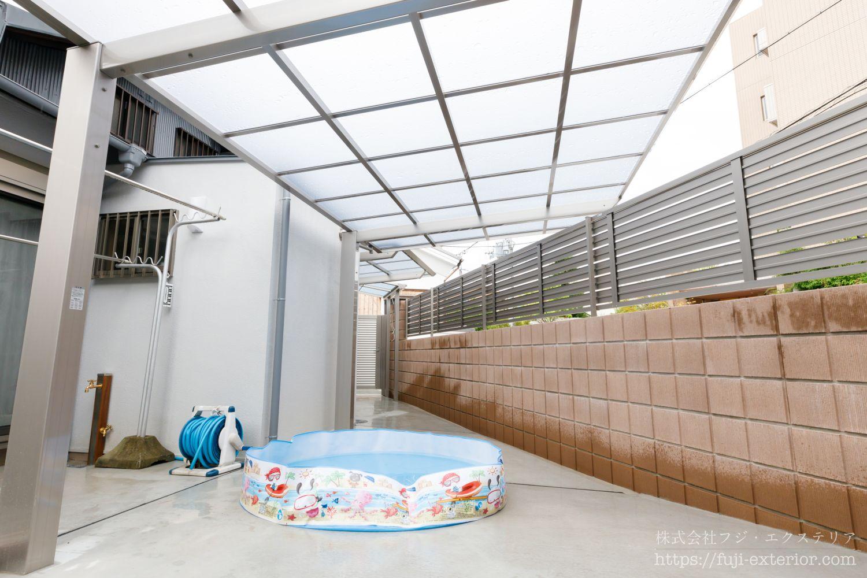 庭に屋根 エクステリア 大阪 古民家リフォーム