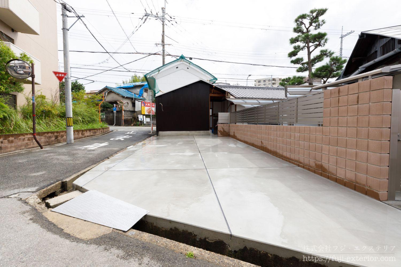 側溝 リフォーム 大阪 外構工事