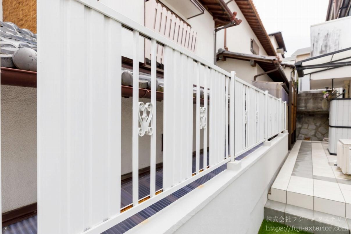 フェンスの塗り替え 大阪 外構